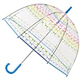 totes Clear Bubble Umbrella with Color Trim (One Size, Glasses)