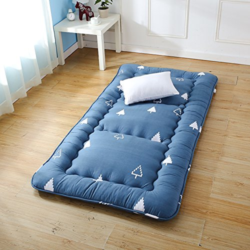 HYXL Thicken Tatami mats Floor mat,Traditional Japanese Floor futon mattresses,Student mattress dormitory single bed fold floor sleeping pad cushion-A 180x200cm(71x79inch)