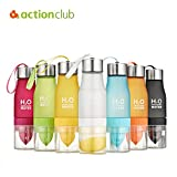 TecGeo(TM) Lemon Juice Bottle Juices Fruit Bottles My Camping Colorful Health Bottle Shaker Frosted Plastic Outdoor cups 650ml Kettle HH652