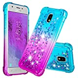 Software : ZSTVIVA Galaxy J3 2018 Case, J3 Case, Gradient Series 3D Glitter Liquid Personalised Clear Silicone Gel TPU Shockproof Phone Case for Samsung Galaxy J3 - Sky Blue Purple