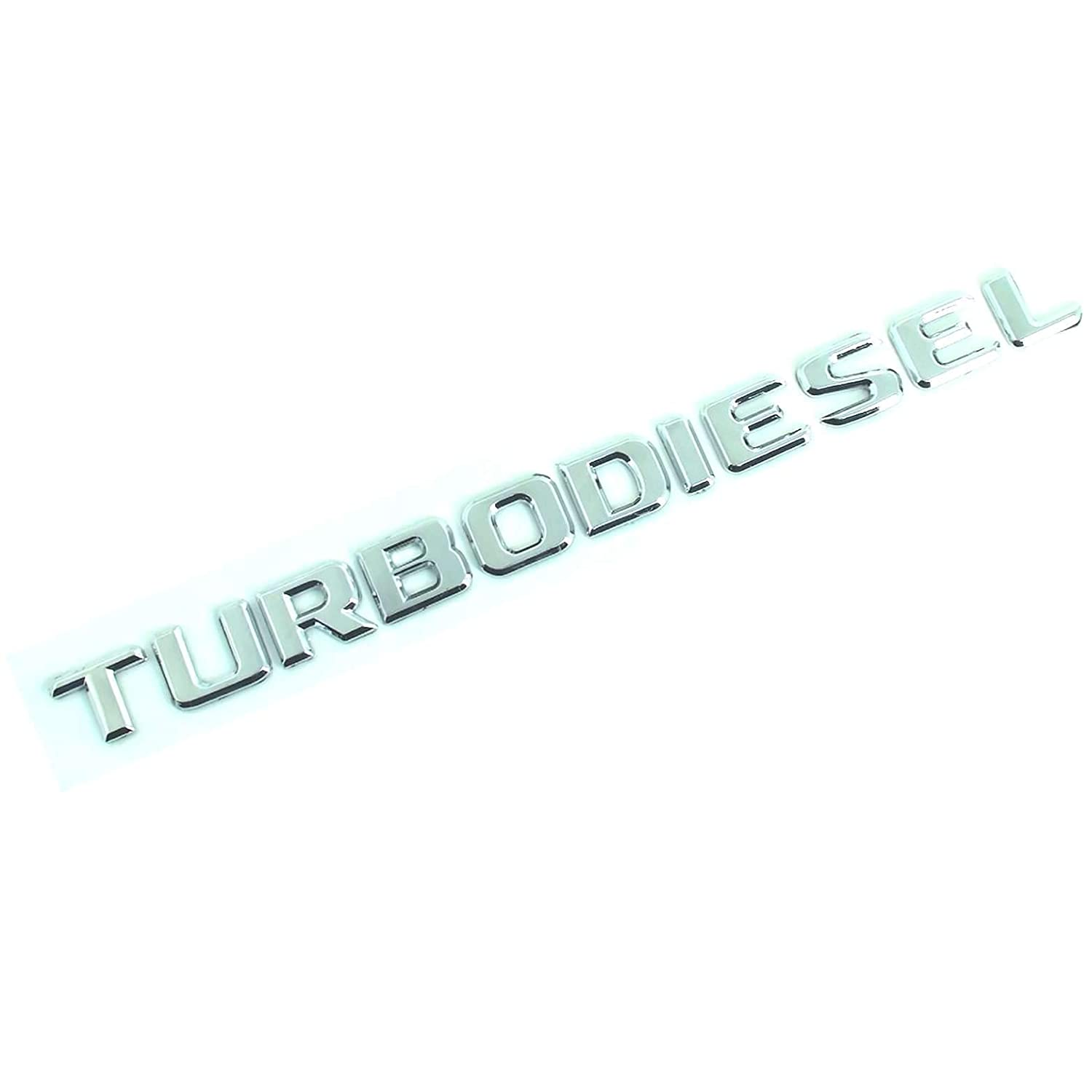 Turbodiesel Turbo Diesel Chrome Badge Emblem Logo Fender Trunk Side Body Hood Chromed Decal Sticker 3D Car Auto Adhesive Replacement Truck Van Sports Diy Name Plate Swap Abs Plastic TOTUMY 1 Piece