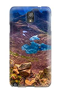 Flexible Tpu Back Case Cover For Galaxy Note 3 - Mountain Earth Nature Mountain