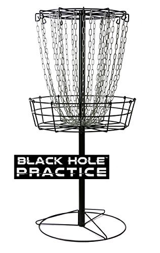 MVP Black Hole Practice 24-Chain Portable Disc Golf Basket Target ()