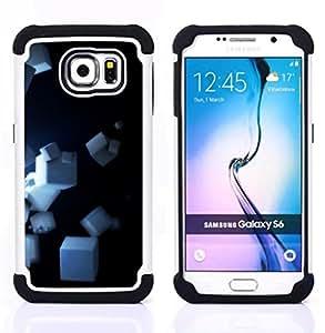 - Cubes/ H??brido 3in1 Deluxe Impreso duro Soft Alto Impacto caja de la armadura Defender - SHIMIN CAO - For Samsung Galaxy S6 G9200
