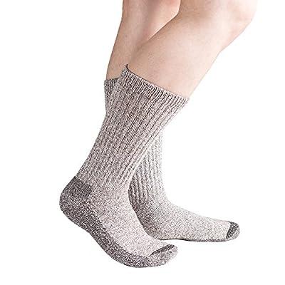 Doc Ortho Ultra Soft Merino Thermal Diabetic Socks, 2 Pairs, Crew