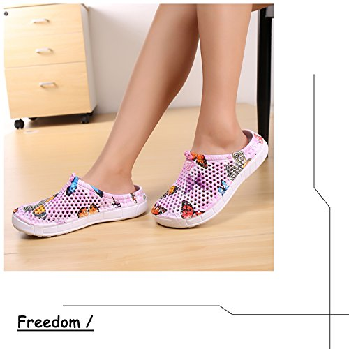 Slippers Breathable Drying Footwear Garden Mens Womens Slip Summer Clog Lightweight Mesh BARKOR Pink2 Anti Mesh Shoes Shoes Quick qw0A7X0Rx