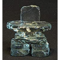 "2.5"" Clear Glass Inukshuk"