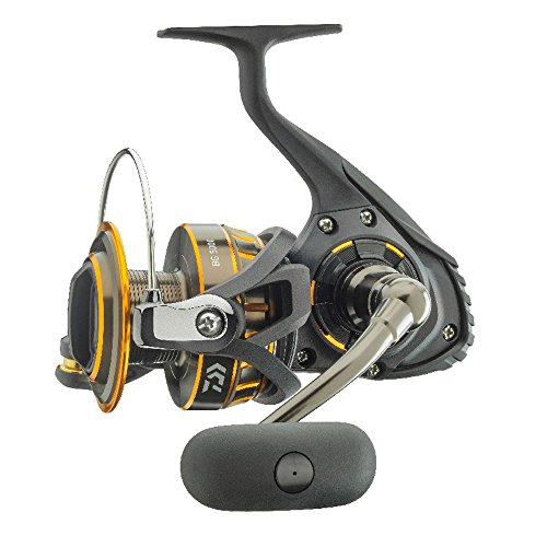 "Daiwa BG4500 BG Saltwater Spinning Reel, 4500, 5.7: 1 Gear Ratio, 6+1 Bearings, 43.10"" Retrieve Rate, 22 lb Max Drag"