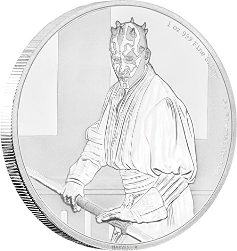 2018 NU Star Wars Classic Series: Darth Maul - 1 oz. Silver Coin - With all Original Packaging $2 Brilliant...