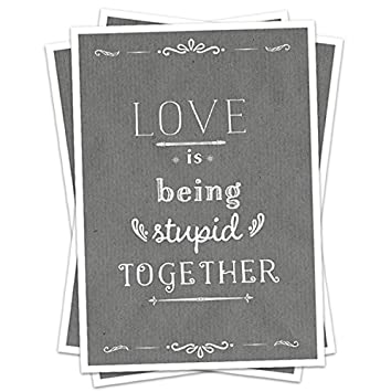 Invitation De Mariage Love Is Being Stupid Together Gris