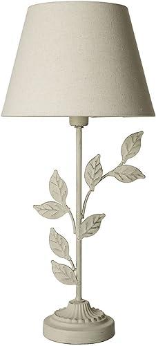 Lampada Da Tavolo Con Foglie In Ferro E Cappello Ecru Mainapps Amazon It Illuminazione
