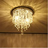"Beyonds Supreme Luxury Ceiling Light Flush Mounted Crystal Ceiling Lamp, 9.84"" X 9.8"", Modern Chandelier Pendant Light Fixtures for Living Room, Foyer, Hallway, Office"
