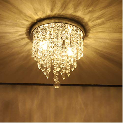 Beyonds Supreme Luxury Ceiling Light Flush Mounted Crystal Ceiling Lamp, 9.84