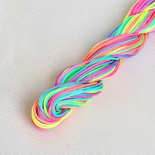 (Zamtac 24Meters/Roll Similar DMC Variegated 100% Cotton Embroidery Thread Floss Sewing Skein Craft for Cross Stitch - (Color: Rainbow))