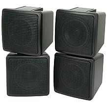 PAIR SATELLITE SPEAKERS -100W 8OHM -WALL/BOOKSHELF- COMPACT/SMALL - RESTAURANT