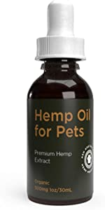 Ash Apothecary Organic Hemp Oil for Dogs and Cats - 500mg Hemp Extract for Pets - Hip and Joint Relief for Pets - Pet Inflammation - Pet Anxiety
