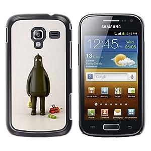 GOODTHINGS Funda Imagen Diseño Carcasa Tapa Trasera Negro Cover Skin Case para Samsung Galaxy Ace 2 I8160 Ace II X S7560M - ladrón robot grasa dinero efectivo dinamita