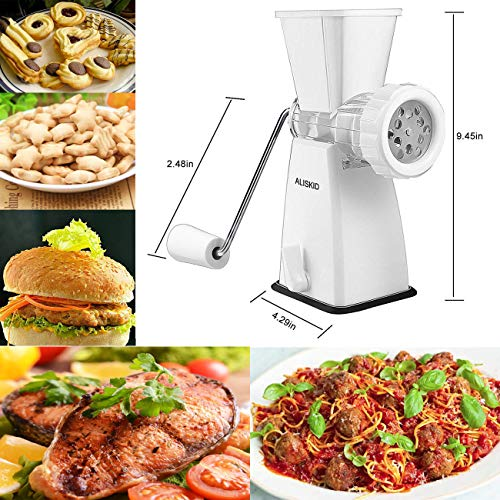 Manual Meat Grinder Stainless Steel Blades Heavy Duty with Powerful Suction Base for Home Kitchen Fast and Effortless for All Meats, Vegetables, Garlic, Fruits, etc