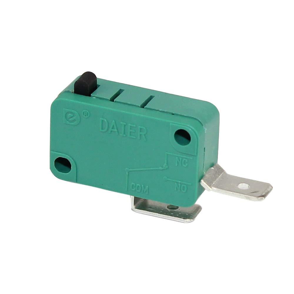 DaierTek 2Pcs Microwave Oven Door Micro Switch 2Pin Normally Open 16A 250VAC/20A 125VAC