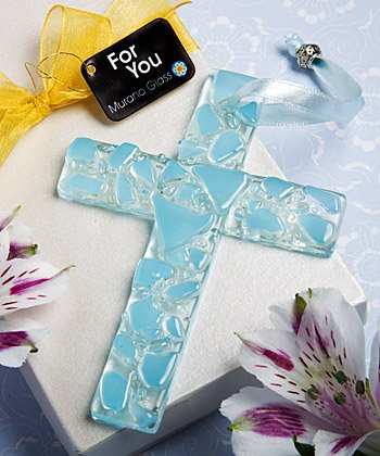 Murano Glass Collection Hanging Cross, 1