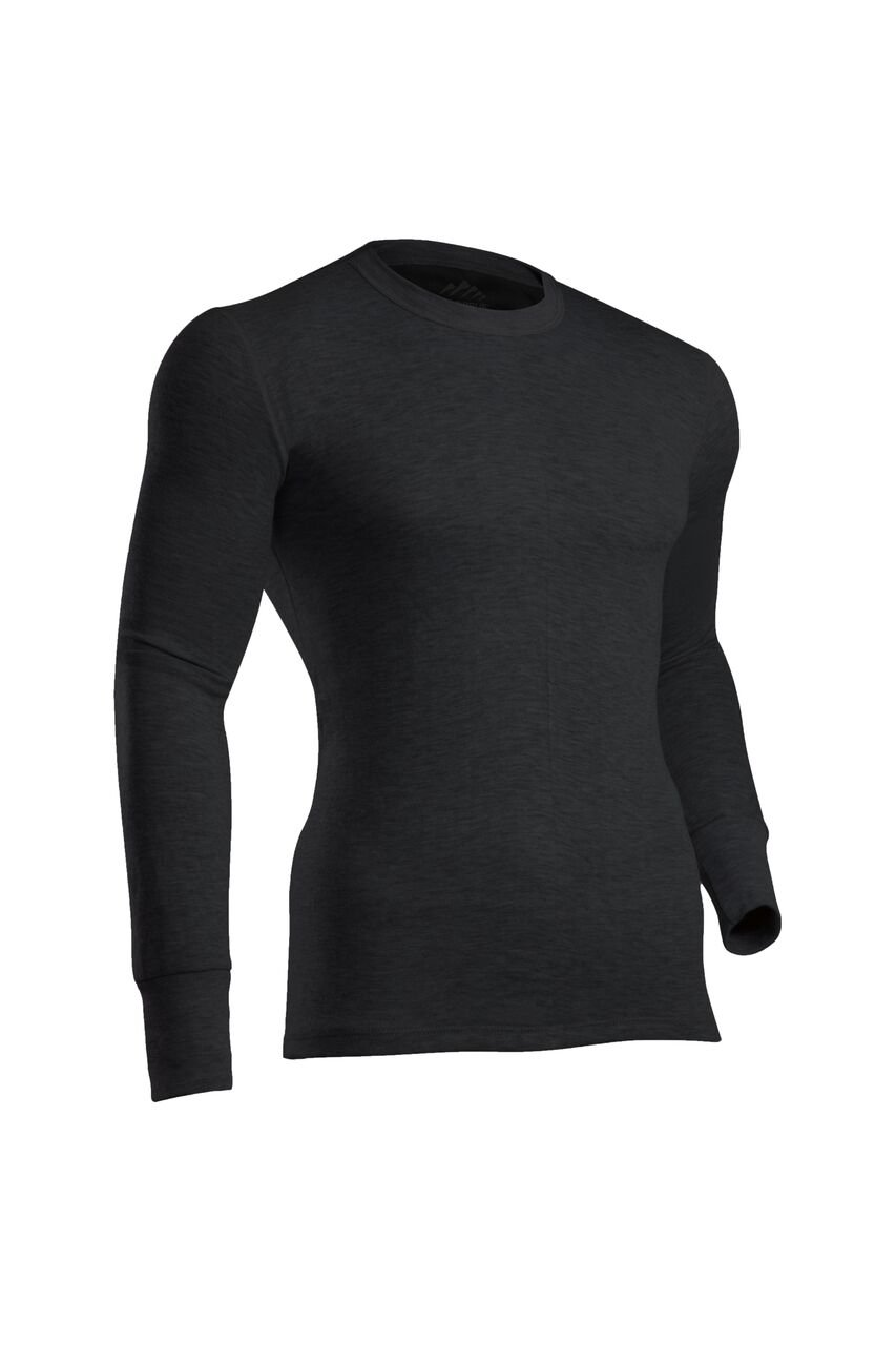 ColdPruf Men's Platinum II Performance Base Layer Long Sleeve Crew Neck Top, Black, Medium by ColdPruf