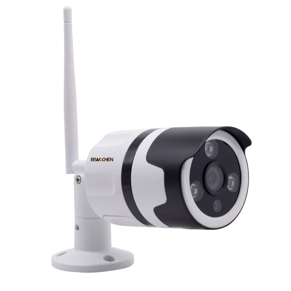 Home Security Camera, 720P HD Night Vision WiFi Bullet Cameras IP66 Waterproof Surveillance, IR LED Motion Detection IP Cameras for Indoor and Outdoor by Bewachen