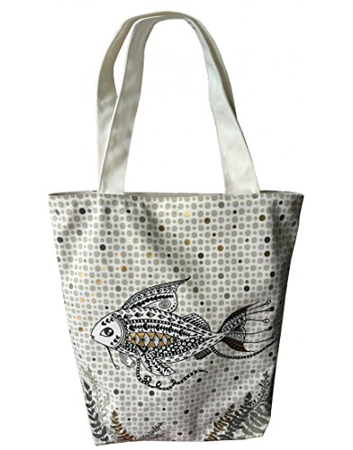Decodelire Women's Top-Handle Bag Multicolour Écru, gris, doré