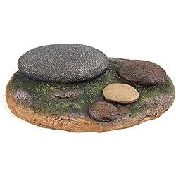 uxcell Resin Rock Stone Aquarium Landscaping Decor Ornament for Aquatic Pets