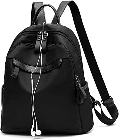 Fashion oxford cloth backpack,Large-capacity travel backpack-black