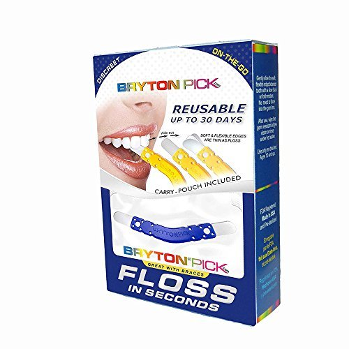Floss in Seconds with Braces (12 Pack +3 Free Products) by BRYTONPick - Floss in Seconds