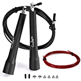 Coolwoo Jump Rope with 10ft Free Cable, Speed & Adjustable, Best for Skip Training and Personal Fitness