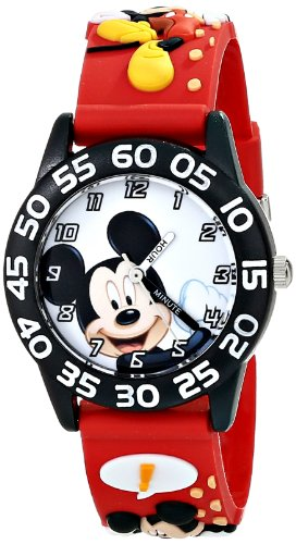 "Disney Kids' W001519 ""Time Teacher"" Mickey Mouse Watch wi..."