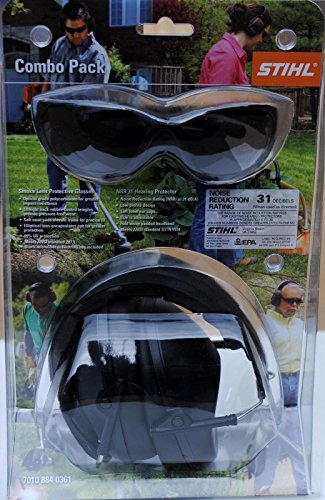 New Oem Stihl Safety Glasses Smoke Lens & Hearing Protect...
