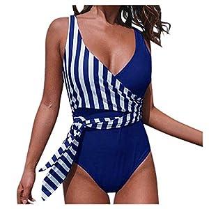 Donna Spiaggia Jumpsuit con Riga Regolabile Reggiseni Slip Bagnarsi Costume da Bagno Bodysuit Stampe Tankini Push-Up… 8 spesavip