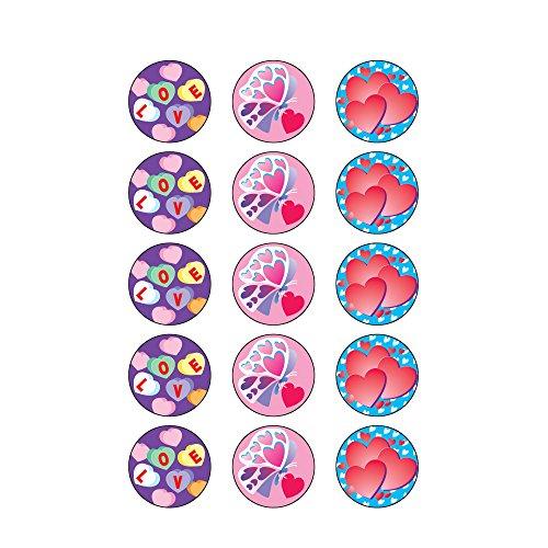 Trend Enterprises Valentine's Day (Cherry) Round Stinky Stickers, Large (T-928) Photo #3