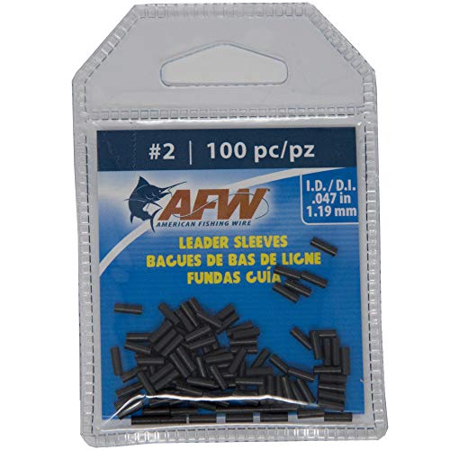 (AFW Size 2 100 pc American Fishing Wire Single Barrel Copper Crimp Sleeves)