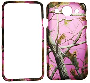 IMAGITOUCH(TM) LG Optimus G Pro E980 (AT&T) - Rubberized Design Snap On Hard Case Cover Protector Faceplate - Pink Real Tree Camo Camouflage