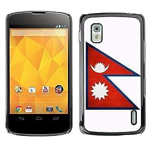 Shell-Star ( National Flag Series-Nepal ) Snap On Hard Protective Case For LG Google NEXUS 4 / Mako / E960