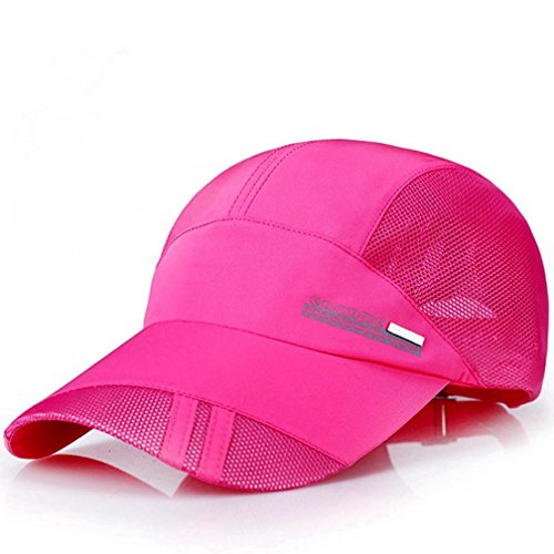 GADIEMENSS Quick Drying Breathable Running Outdoor Hat Cap Only 2 Ounces 10 Colors (Deep - Pink Running Hat