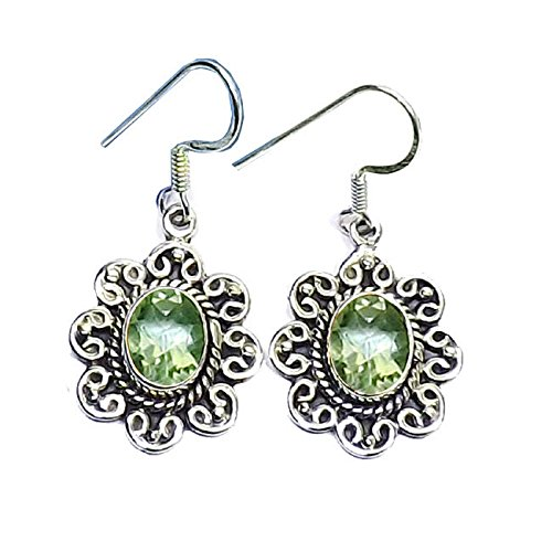 Green Amethyst Flower Dangle - 3