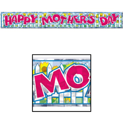 (Metallic Happy Mother's Day Fringe Banner Party Accessory (1 count) (1/Pkg))