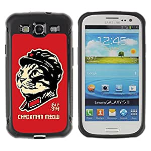 Hybrid Anti-Shock Defend Case for Samsung Galaxy S3 / Chairman Meow Cat