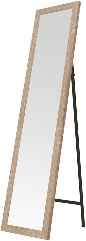 Espejo de pie de Madera MDF Beige nórdico para Dormitorio de 37 x 157 cm France - LOLAhome