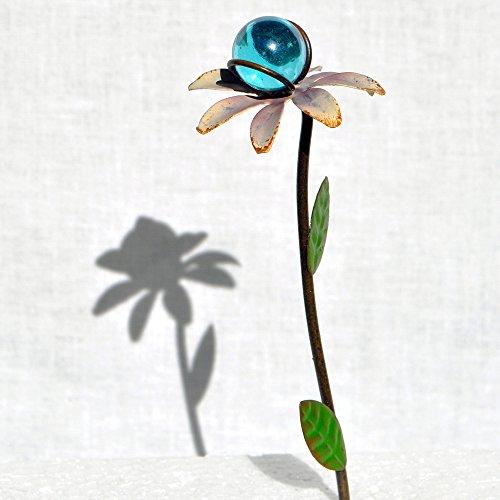 Flower Gazing Ball, Color Options for Miniature Garden, Fairy Garden, (Long Ball Cellars)