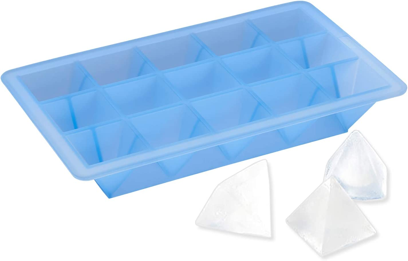 Lurch Germany 0.7 x 0.7 Inch Silicone Ice Cube Tray Blue