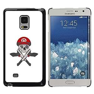 Be Good Phone Accessory // Dura Cáscara cubierta Protectora Caso Carcasa Funda de Protección para Samsung Galaxy Mega 5.8 9150 9152 // M Guns Game Pistols Skull White