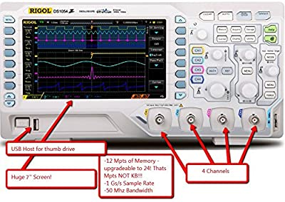 Rigol DS1054Z Digital Oscilloscope 50 Mhz DSO 4 Channels