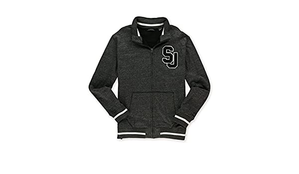 Sean John Mens Varsity Sweatshirt Grey XXS at Amazon Mens Clothing store: