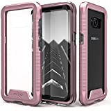 Zizo ION Series Compatible with Samsung Galaxy S8 Case Military Grade Drop Tested with Tempered Glass Screen Protector Rose Gold Clear
