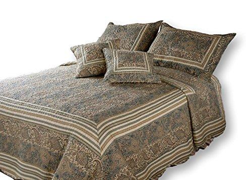DaDa Bedding DXJ101873 Paradise Cotton 3-Piece Quilt Set, Twin, - Paradise Bedding Set